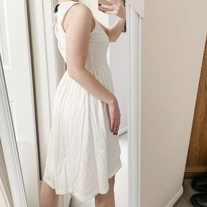 White high/low dress
